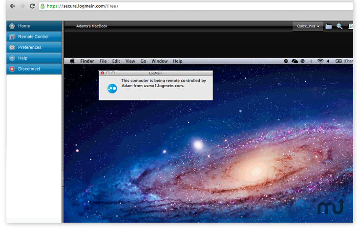 Screenshot 1 for LogMeIn Plug-In