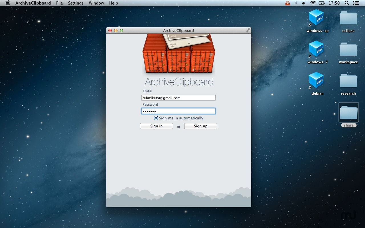 Screenshot 5 for ArchiveClipboard