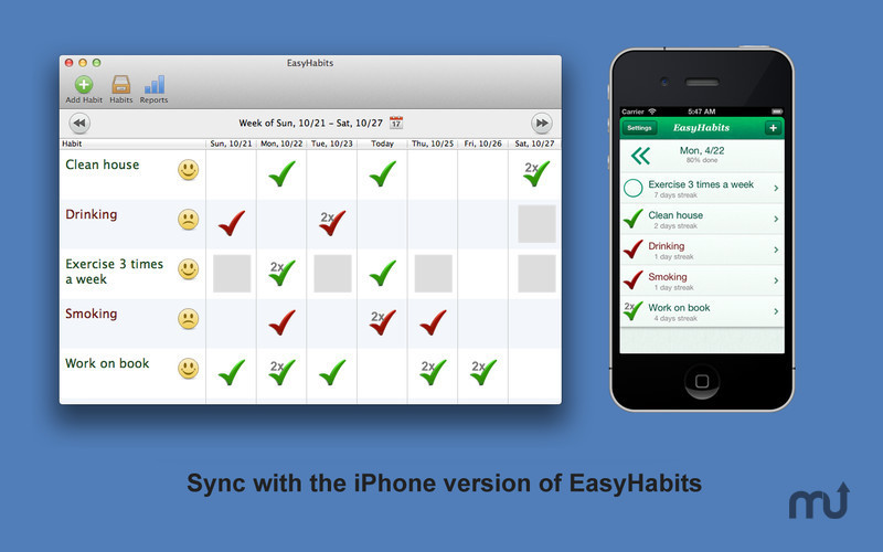 Screenshot 1 for EasyHabits