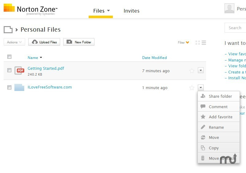 Screenshot 1 for Norton Zone