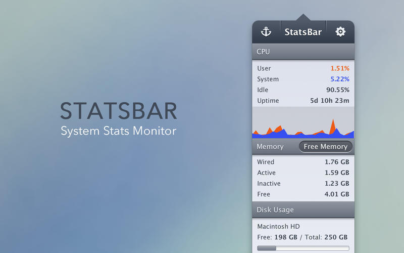 Screenshot 1 for StatsBar