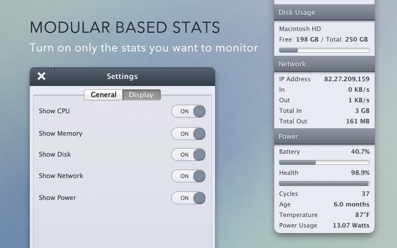 Screenshot 2 for StatsBar
