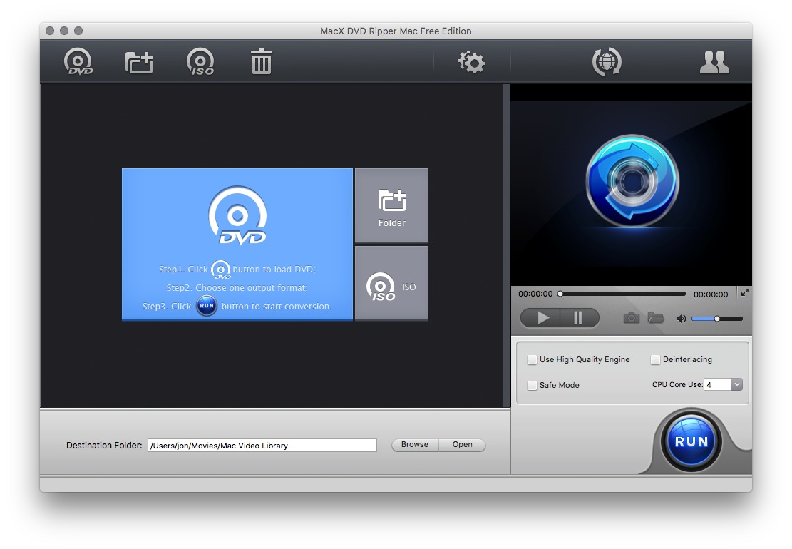 Screenshot 2 for MacX DVD Ripper Free Edition