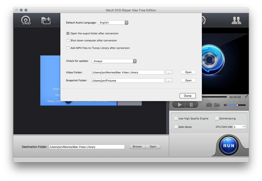 Screenshot 3 for MacX DVD Ripper Free Edition