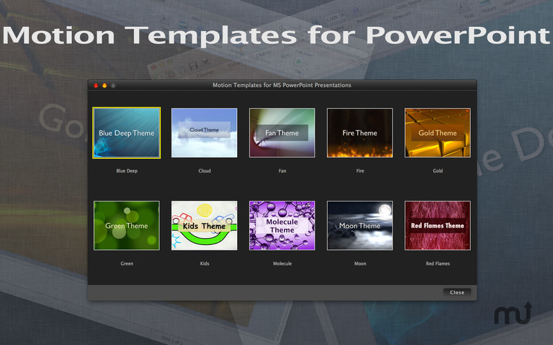 Screenshot 1 for Motion Templates for MS PowerPoint