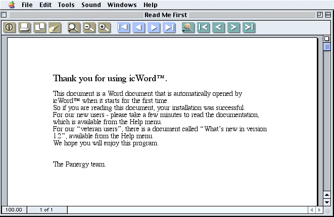 Screenshot 1 for icWord