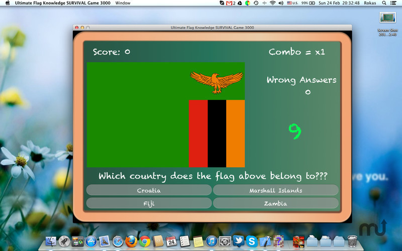 Screenshot 2 for Ultimate Flag Knowledge SURVIVAL Game 3000