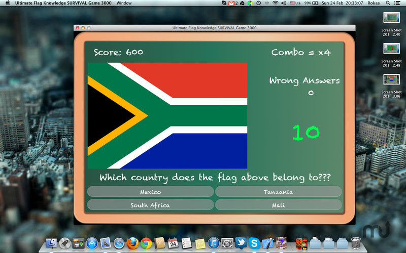 Screenshot 3 for Ultimate Flag Knowledge SURVIVAL Game 3000