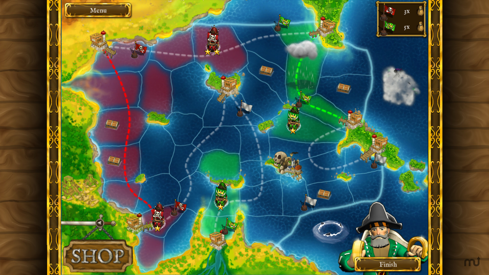 Screenshot 2 for Pirates vs. Corsairs: Davy Jones' Gold