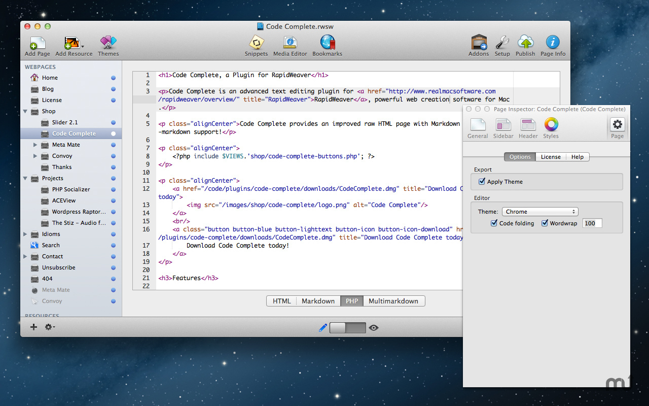 Screenshot 1 for Code Complete Plugin