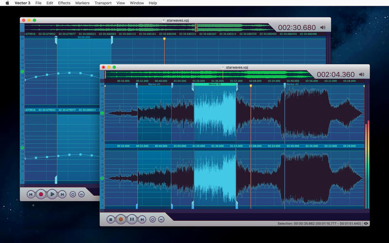 Screenshot 2 for Vector 3 Express: Audio Editor