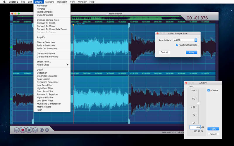 Screenshot 4 for Vector 3 Express: Audio Editor