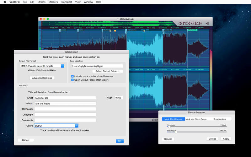 Screenshot 5 for Vector 3 Express: Audio Editor