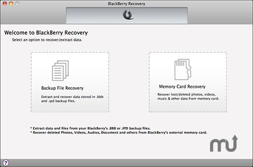 Screenshot 1 for BlackBerry Recovery