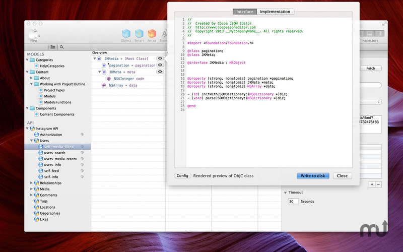 Screenshot 2 for Cocoa JSON Editor