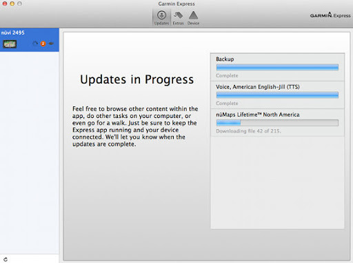 Garmin express download for mac