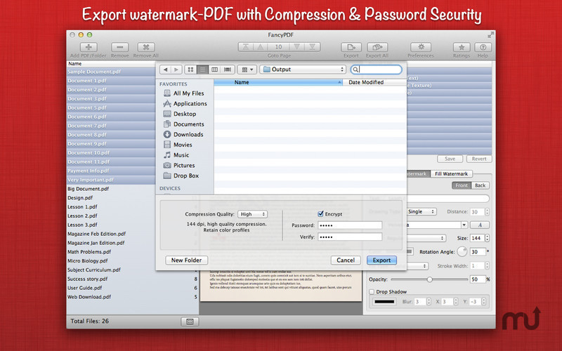 Screenshot 4 for WatermarkPDF