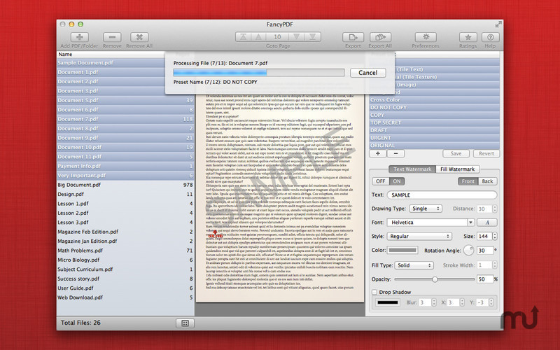 Screenshot 5 for WatermarkPDF