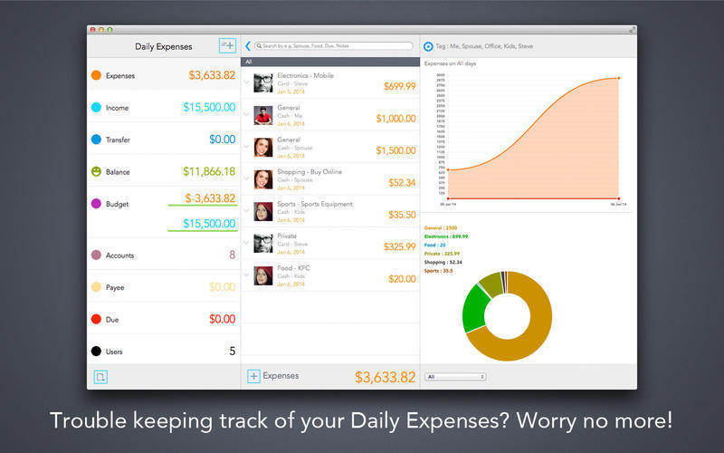 Screenshot 1 for Daily Expenses