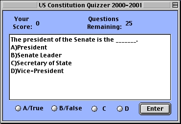 Screenshot 1 for US Constitution and Government Quizzer