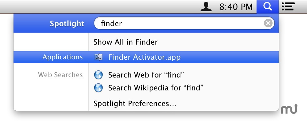 Screenshot 1 for Finder Activator
