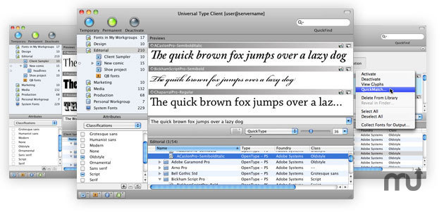 Screenshot 1 for Universal Type Client