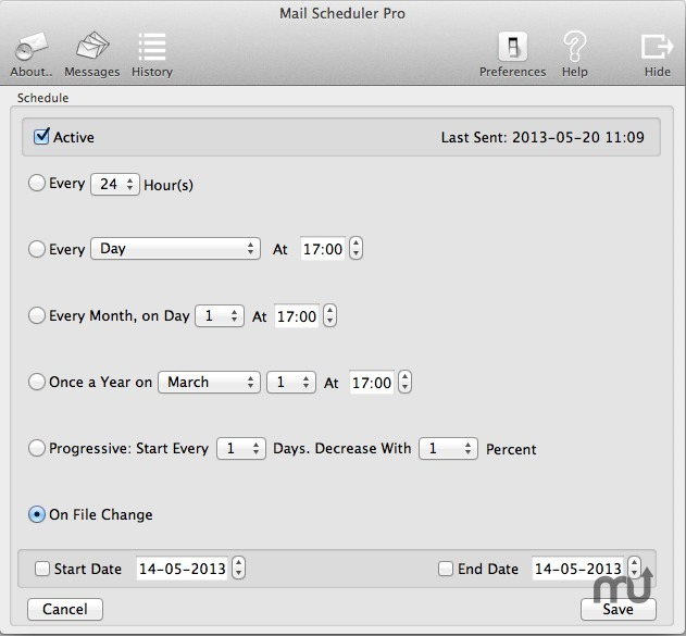 Screenshot 4 for Mail Scheduler Pro