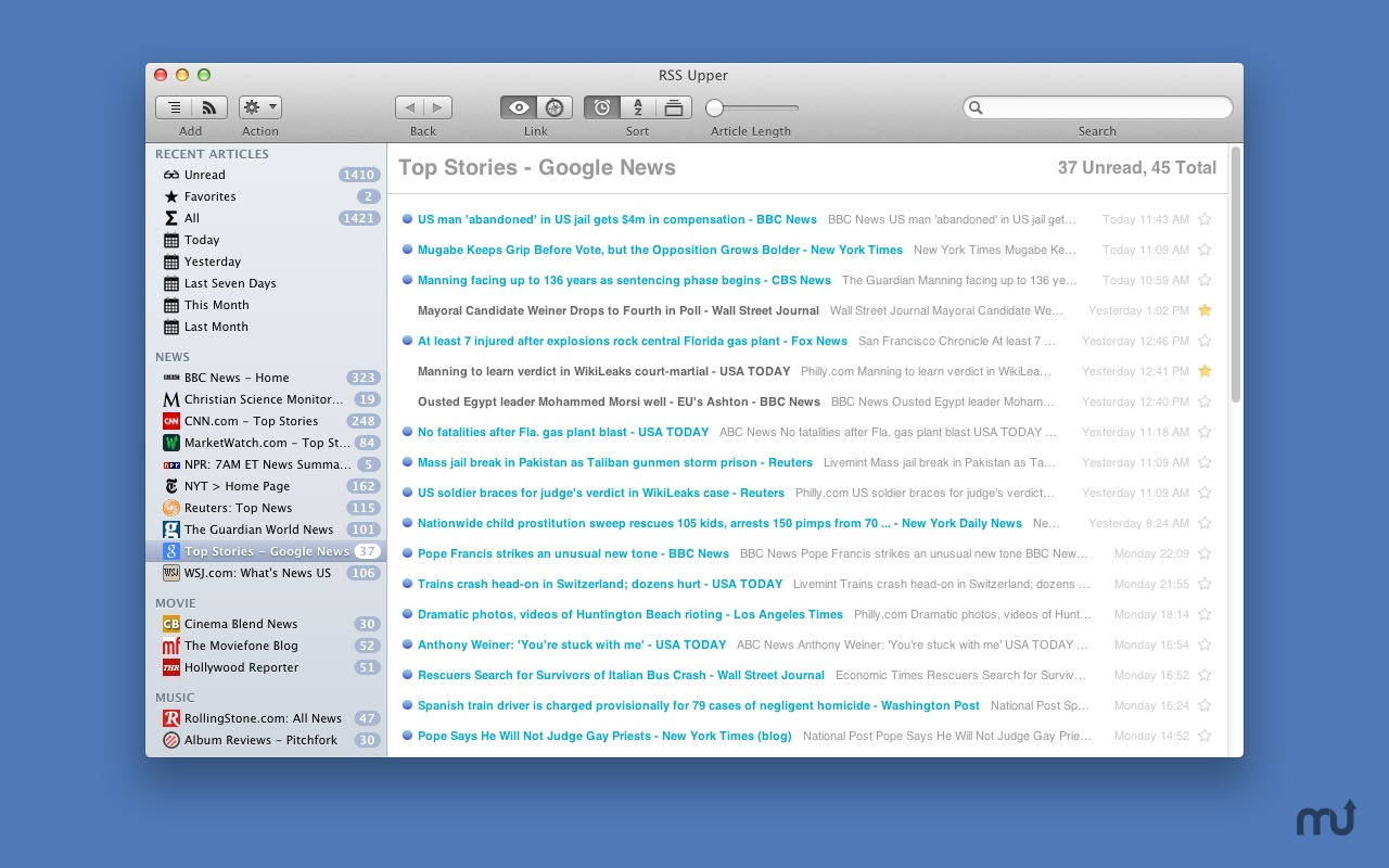 Screenshot 3 for RSS Upper