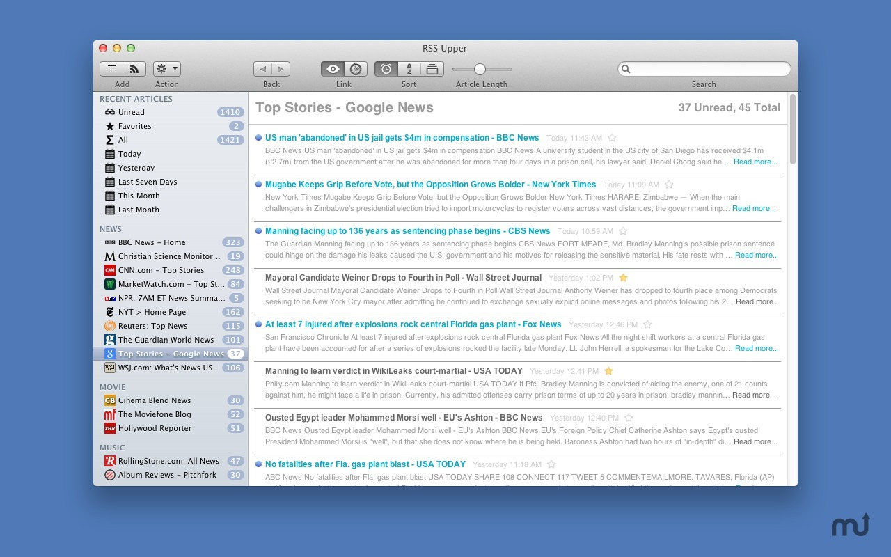 Screenshot 4 for RSS Upper