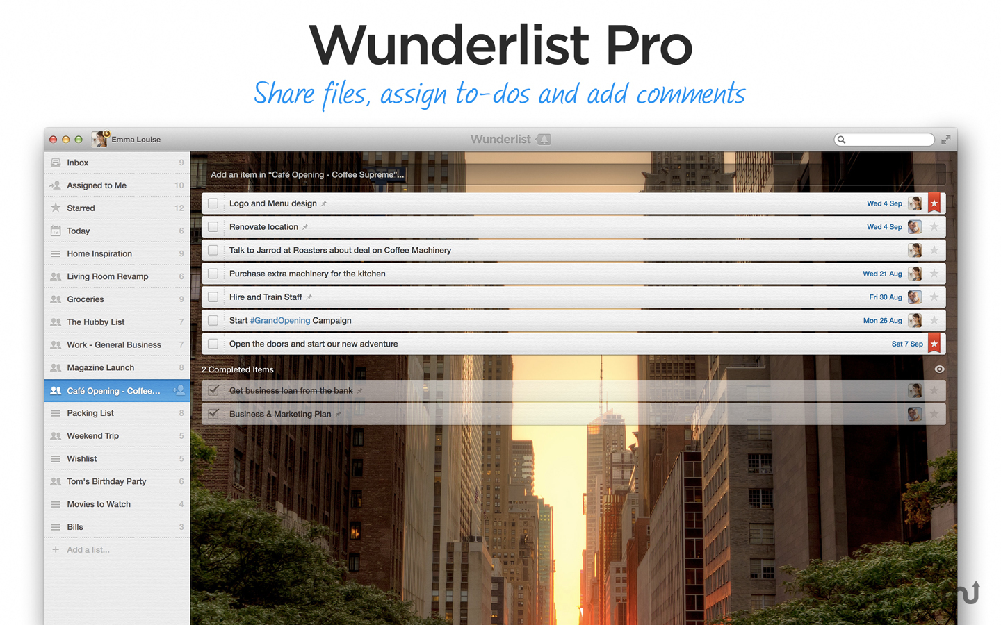 Screenshot 5 for Wunderlist Pro (5-Person License)