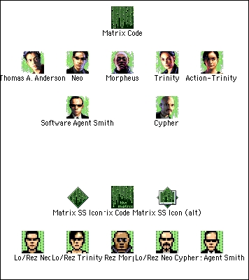 Screenshot 1 for The Matrix Icons