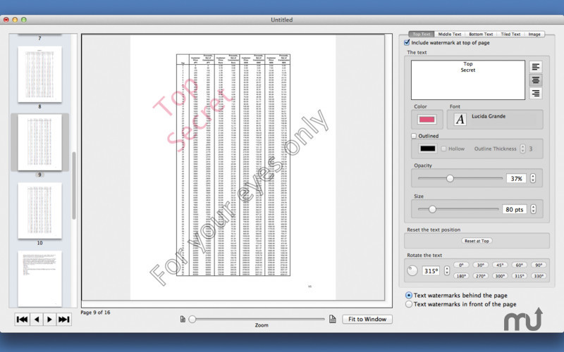Screenshot 1 for PDF Multi Watermarker