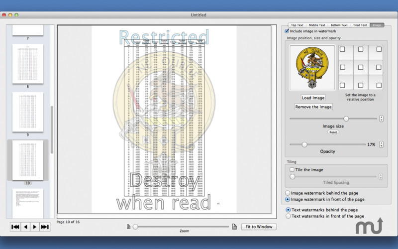 Screenshot 3 for PDF Multi Watermarker