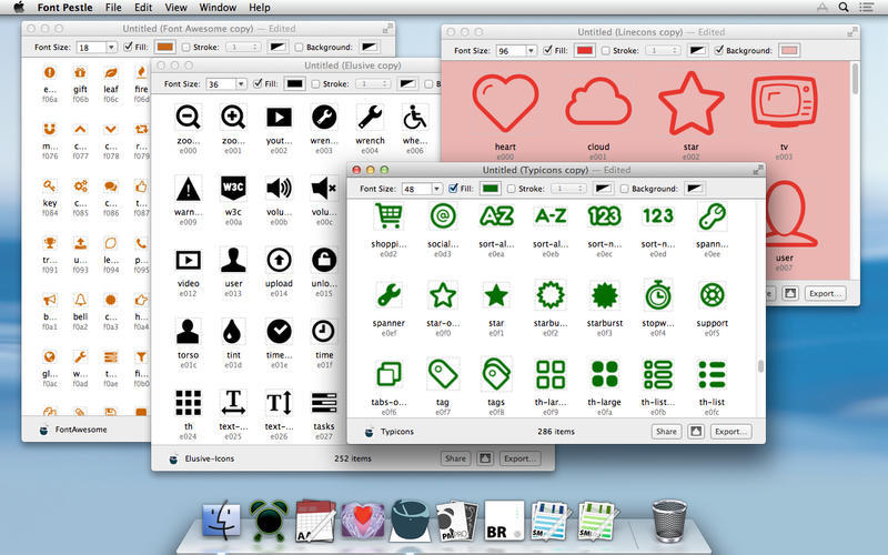 Screenshot 1 for Font Pestle