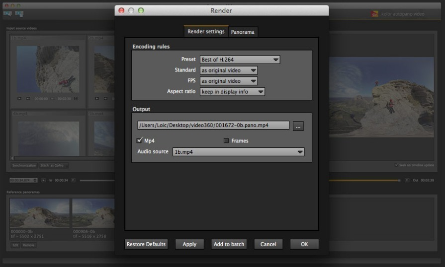 Screenshot 4 for Autopano Video