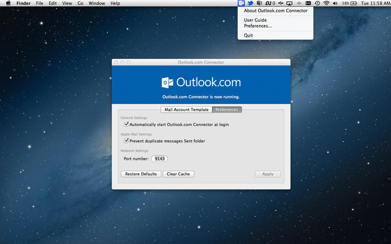 Screenshot 1 for Outlook.com Connector