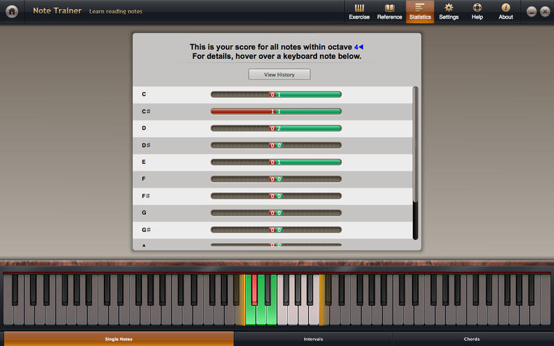 Screenshot 3 for Solfeggio Studio for Piano