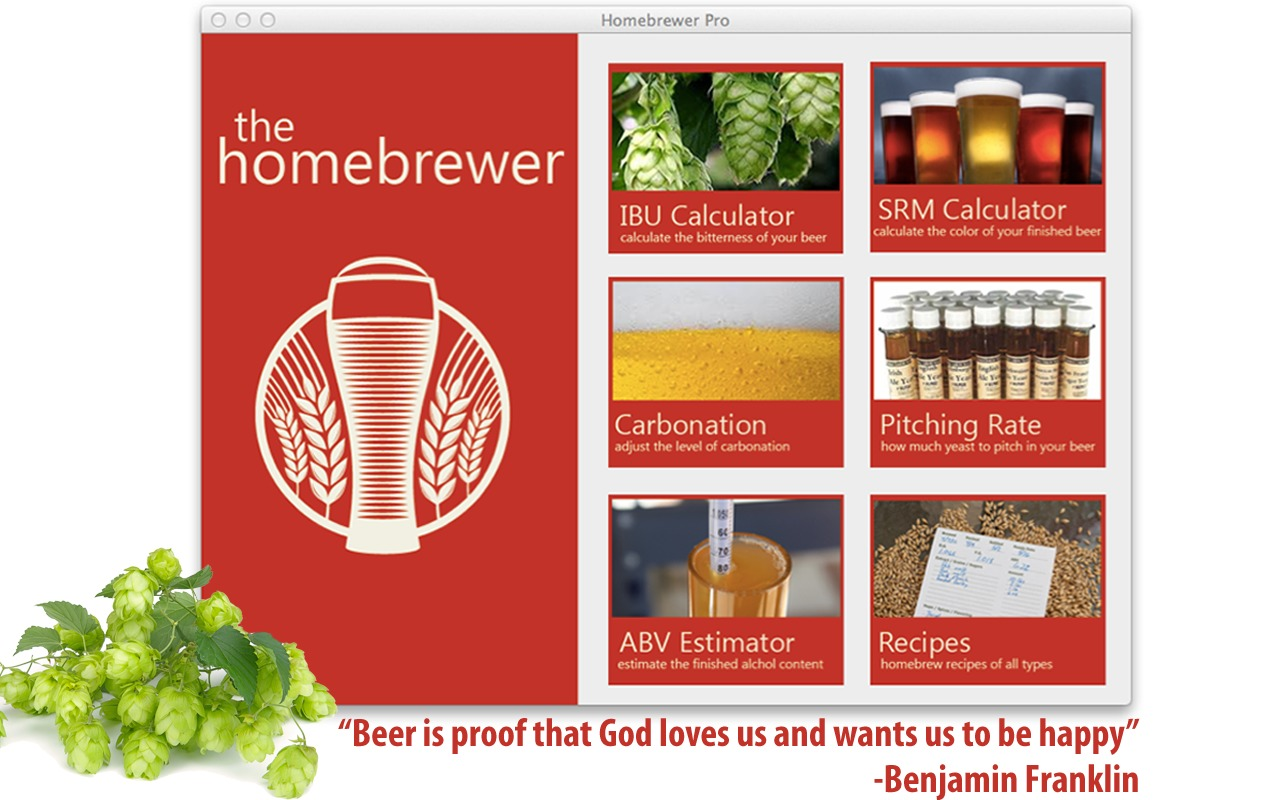 Screenshot 1 for Homebrewer Pro
