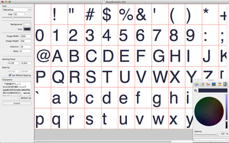 Screenshot 1 for FontDrawer