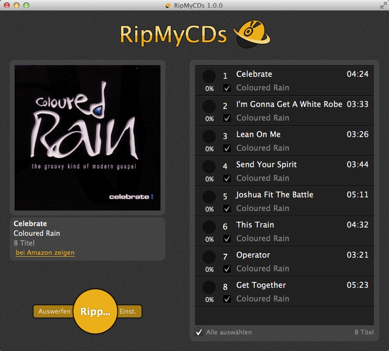 Screenshot 1 for RipMyCDs