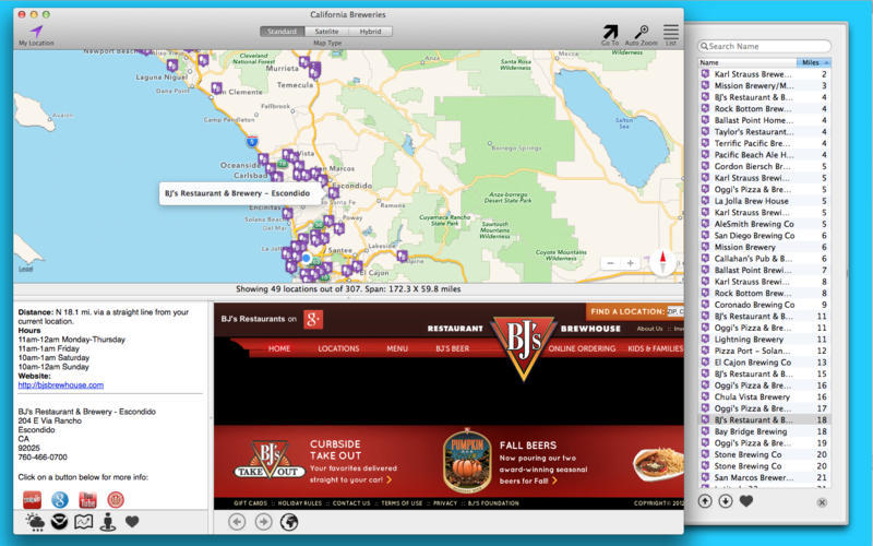 Screenshot 1 for California Breweries