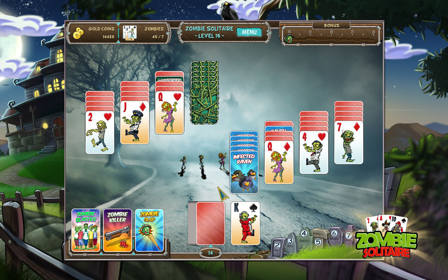 Screenshot 1 for Zombie Solitaire