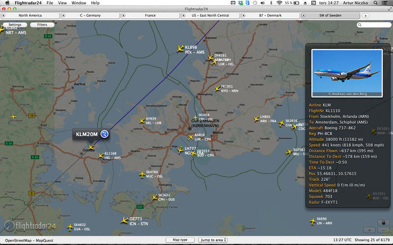 Screenshot 1 for Flightradar24