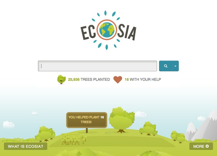 Screenshot 1 for Ecosia