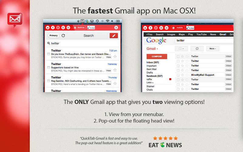Screenshot 1 for App for Gmail - Pro