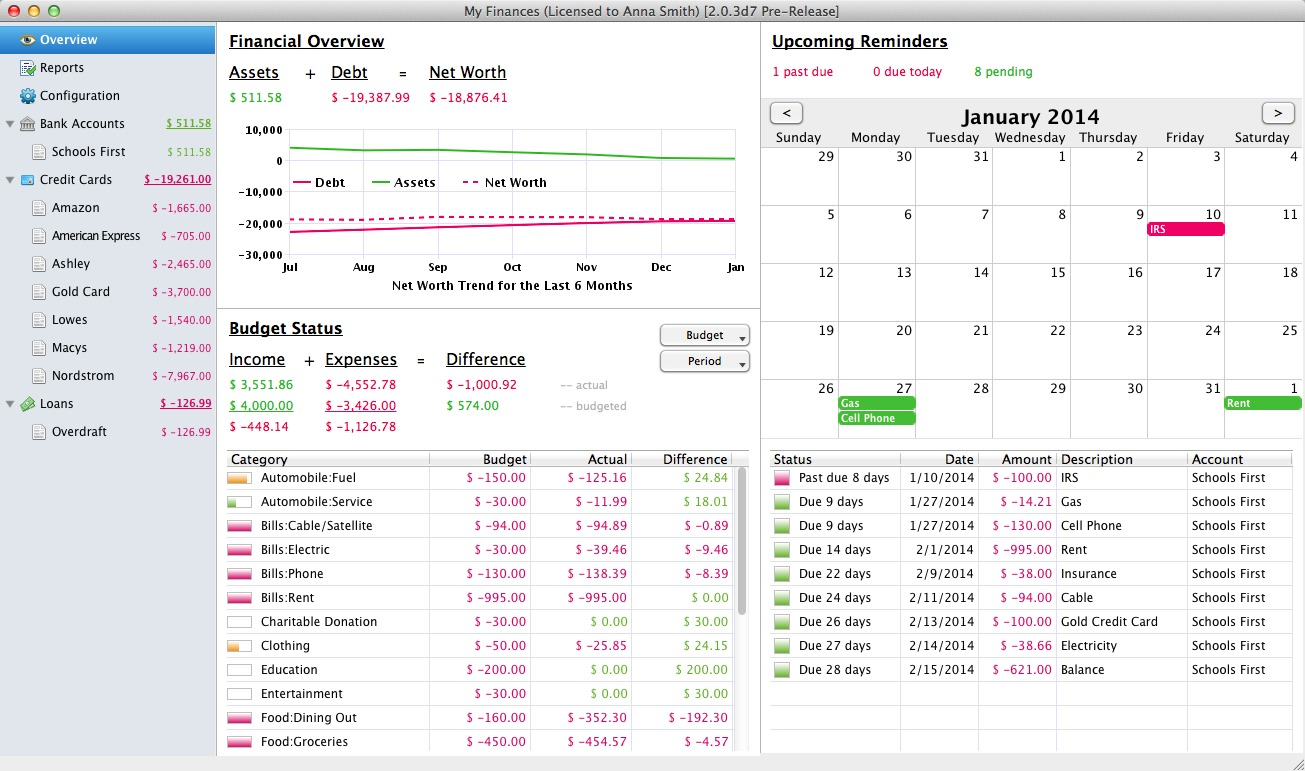 Screenshot 1 for Fresh Finance (5-License Family Pack)