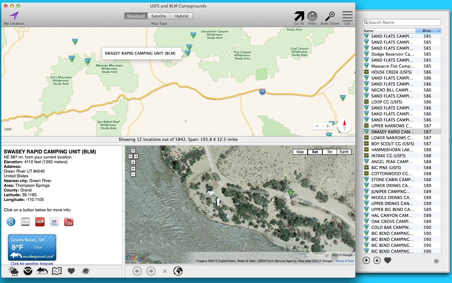 Screenshot 1 for USFS and BLM Campgrounds