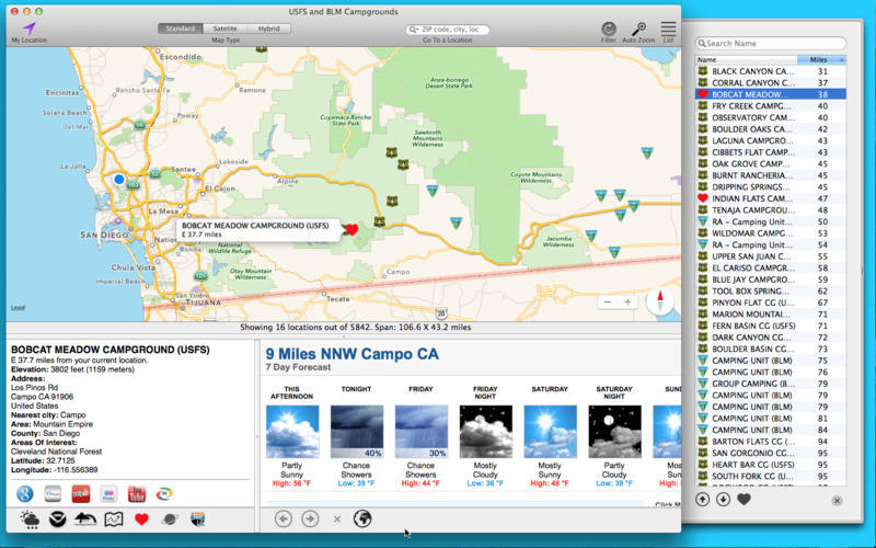 Screenshot 2 for USFS and BLM Campgrounds