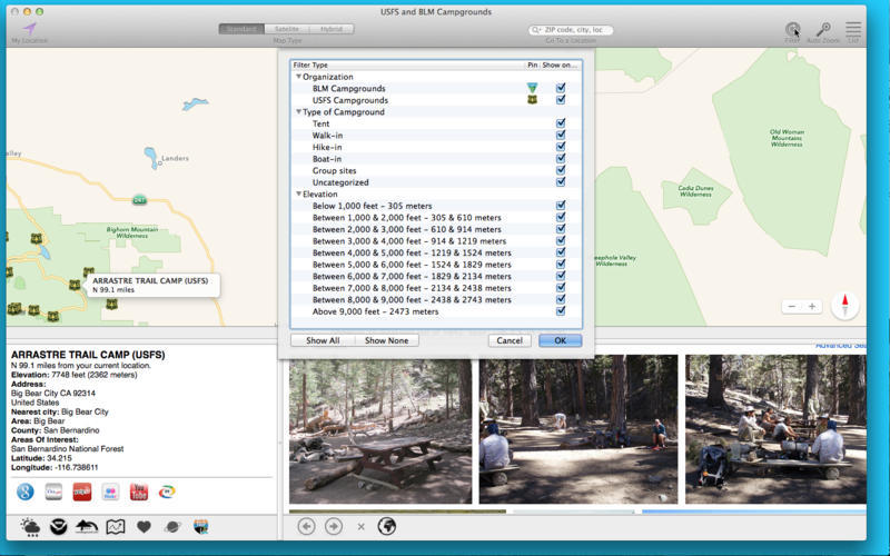Screenshot 4 for USFS and BLM Campgrounds