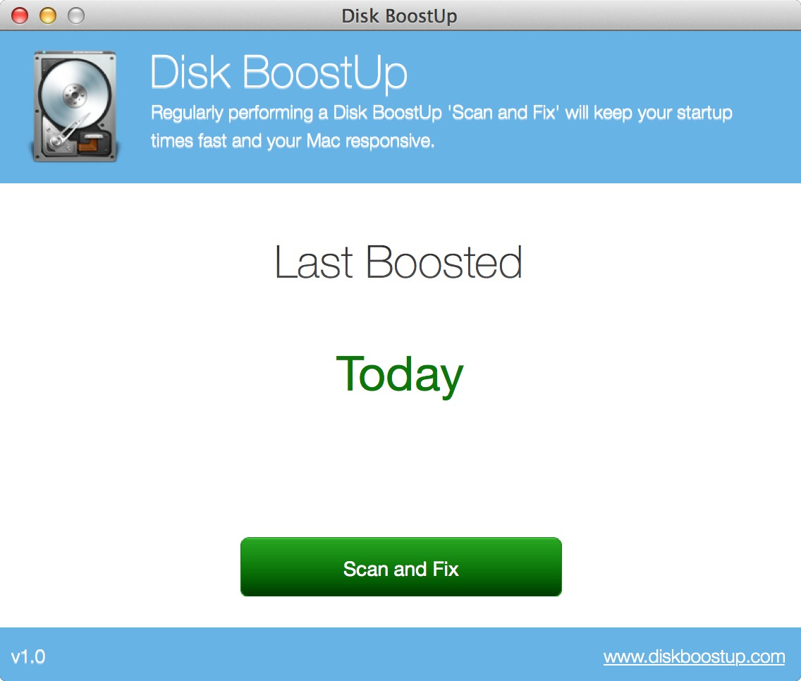 Screenshot 1 for Disk BoostUp